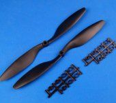 10x4.5 Propeller Set (one clockwise rotating, one counter-clockwise rotating)Black