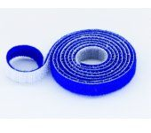 30mm Wide Velcro (loops & hooks integrated) 1 Meter Blue