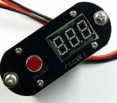 3-in-1 15A UBEC Step Down Switch Harness W/LED Voltage Meter