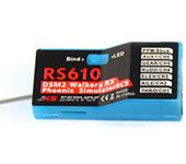 KS SERVO RS610 DEVO 2.4GHz 7CH DSSS PPM PWM S.bus Receiver With Simulator Function