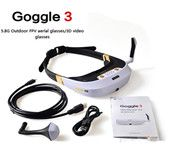 Walkera FPV Goggle 3 5.8G 32CH 360° 3D Video Glasses Goggles HDMI 800x600