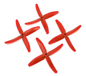 2 Pairs Red DALPROP 5040 Q5040 4 Blade PC Propeller CW CCW For ZMR250 QAV250 RC Multirotors