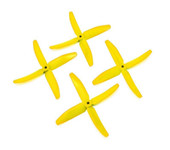 2 Pairs yellow DALPROP 5040 Q5040 4 Blade PC Propeller CW CCW For ZMR250 QAV250 RC Multirotors