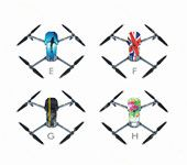 PVC Waterproof Stickers Skin Decals for Mavic Pro DJI Drone