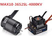 Hobbywing Combo EZRUN MAX10 60A Waterproof Brushless ESC+3652SL G2 4000KV Motor Speed Controller for 1/10 RC Car Crawler Truck