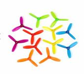 1 Pair DYS 3045 3 Inch 3 Blade Propeller Triblade Bullnose Prop Red Orange Yellow Green Blue Purple