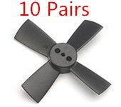 10 Pairs Racerstar 1535 38mm 4 Blade ABS Propeller  For 60-80 FPV Racing Frame black