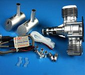 Details about  NEW DLE Engines DLE-40cc Twin Gas w/Electronic Ignition DLE-40