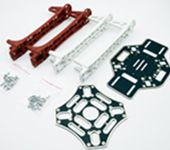 F450 Immersion Gold PCB Board Quadcopter Frame Kit - Red/ White Arms