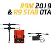 FrSky R9M 2019 900MHz Long Range Module and R9 STAB OTA ACCESS RC Receiver with Mounted Super 8 and T antenna