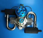 New DLE200 DLE 200CC Gasoline Engine for Paramotor ( Standard Muffler Version)