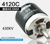 DUALSKY ECO 4120C-V2 430KV fixed-wing Brushless Motor applied to popular 70E F3A 3D models (2.6kg-3kg) for example EF70