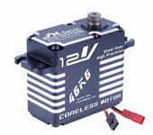 CLS-12V7346 JX Servo 46KG 12V 180 Degrees HV High Precision Steel Gear Digital Coreless Servo CNC Aluminium Shell servo