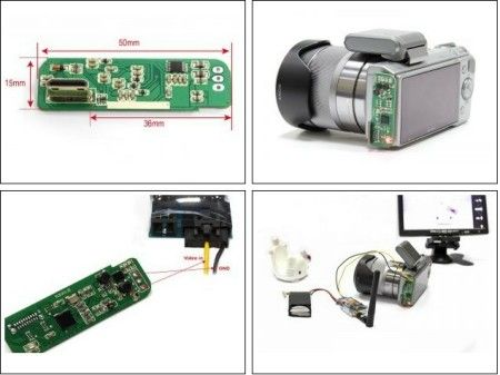 HDMI to AV Converter Ultra Light for SONY NEX5