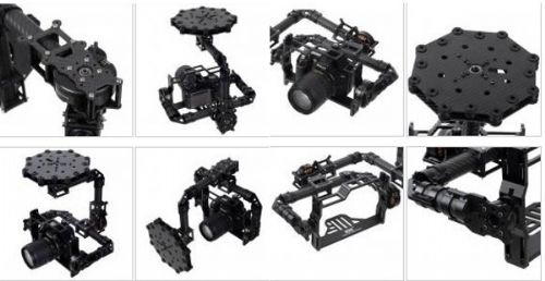 3-axis Carbon Fiber Brushless Gimbal & Controller for 5D 7D