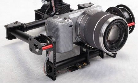 2-axis Brushless Gimbal Mini SLR 5N,GH2,GH3 motors & controller