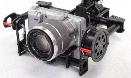 2-axis Brushless Gimbal Mini SLR 5N,GH2,GH3 motors & controller