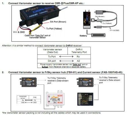 Variometer Sensor for FrSky Telemetry System - Normal Precision