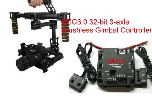 DYS 3-Axis Carbon Fiber HandHeld Brushless Gimbal 32BIT Controll