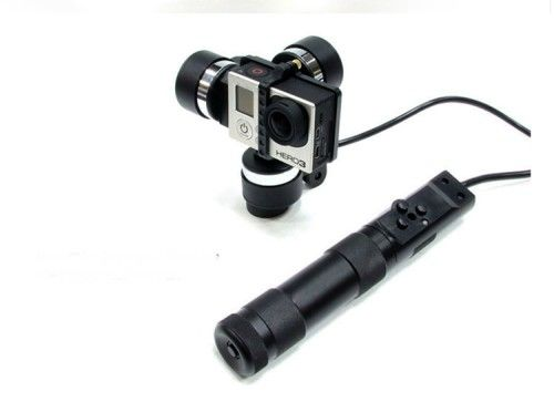 Wearable 3 Axis Brushless Gimbal Aluminum Alloy GoPro Camera