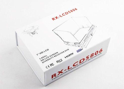 RX-LCD5806 FPV 7in 5.8GHz 32CH Diversity Receiver DVR LCD HD